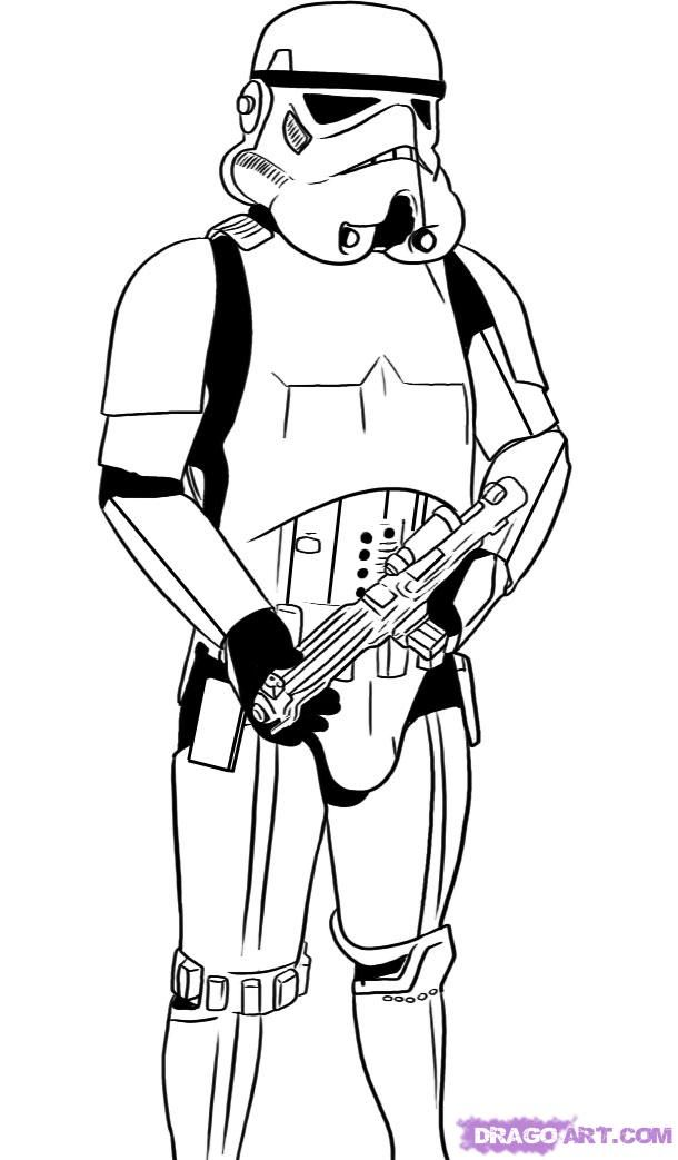 Stormtrooper Drawing | how to draw a stormtrooper step 6