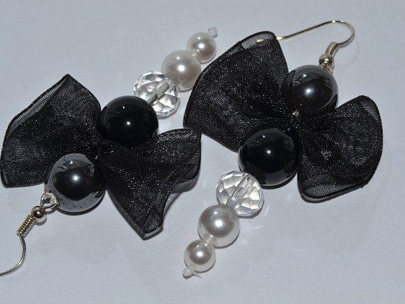 Drop earringssilver plated hoops