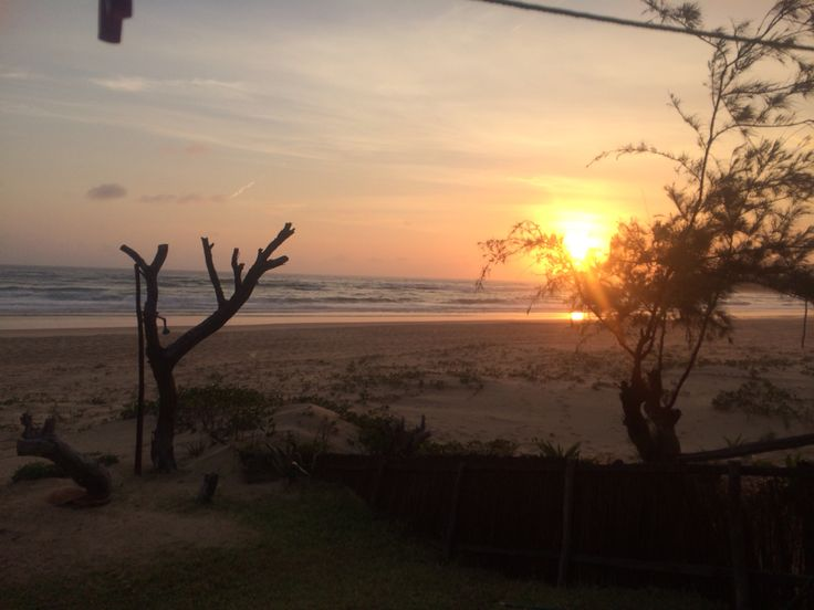 Sunrise at Tofo Beach