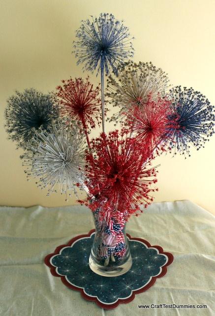 """allium """"Fireworks"""" centerpiece"""