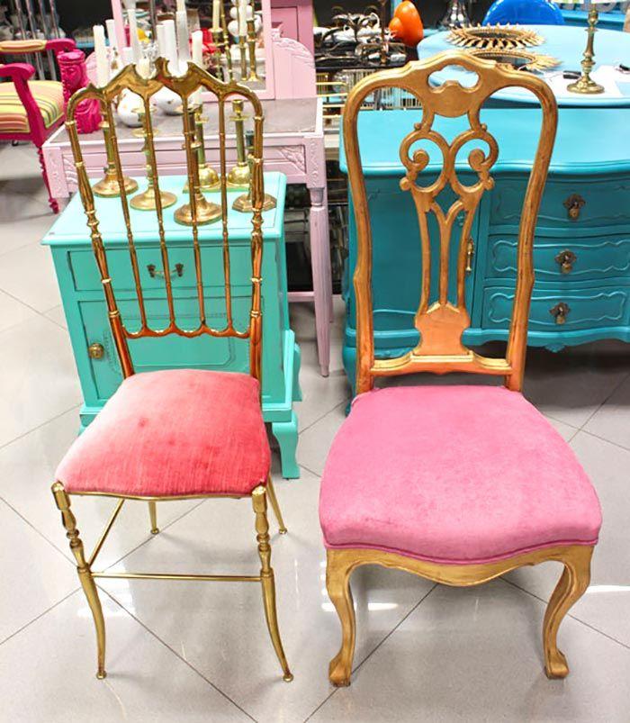 Las 25 mejores ideas sobre sillas doradas en pinterest for Sillas para tocador