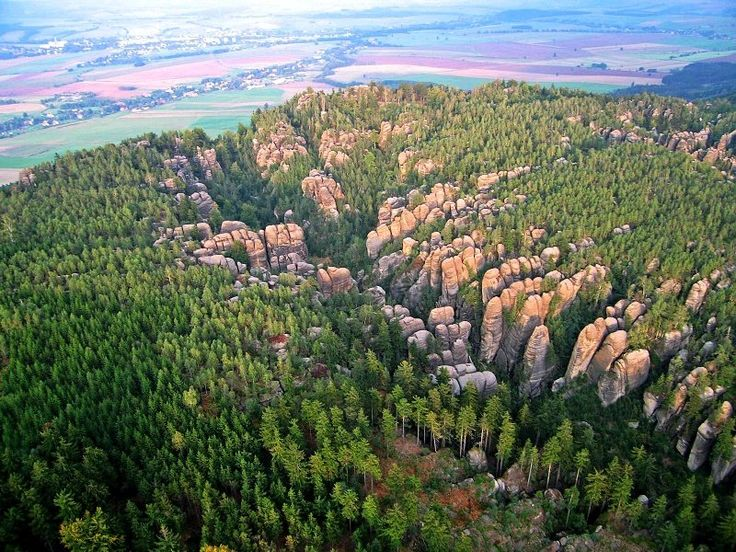 Broumov rocks (East Bohemia), Czechia