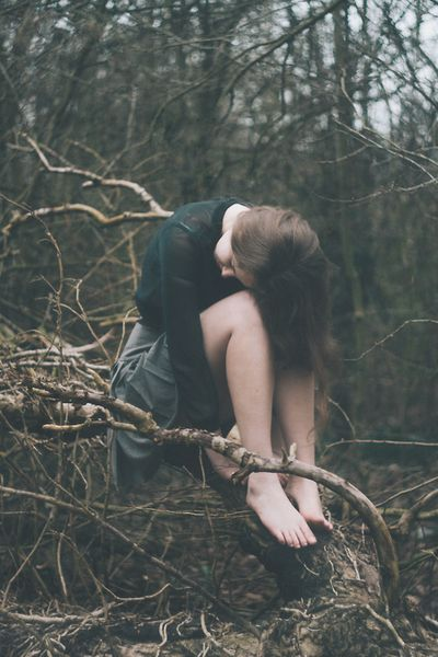 Sadness Has Taken Over Her Soul  in the Depths of the Forest, keeping Watch on What SHE could Have been..