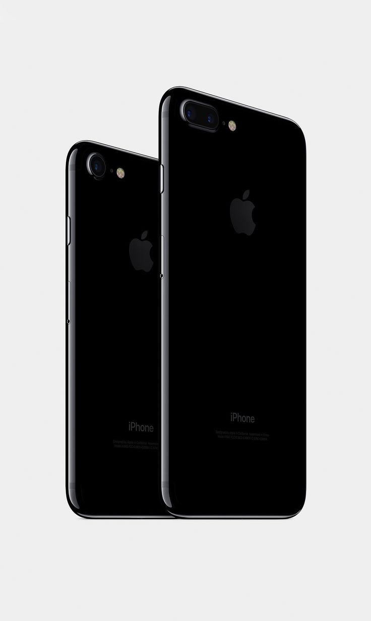 Apple iPhone 7 & 7 Plus in Jet Black