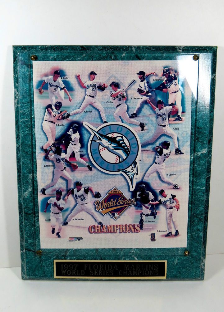 Florida Marlins 1997 World Series Champions Measure 13x10 1/2 Photograph With Pl #FotoFileInc #MiamiMarlins