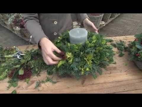 Een sfeervol kerststuk maken met de tips van Intratuin Halsteren! - YouTube