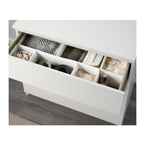 MALM Cómoda de 3 cajones - blanco - IKEA