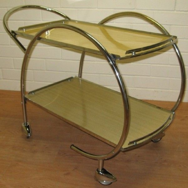 Art Deco Furniture | Art Deco chrome cocktail trolley. - Tea Trolleys. - Antique furniture ...