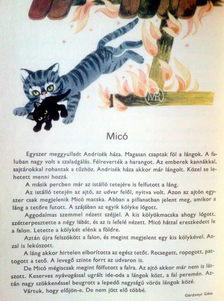 Gárdonyi Géza: Micó (Régi olvasókönyvből) Forrás: https://www.facebook.com/mrretro.nosztalgiaklub