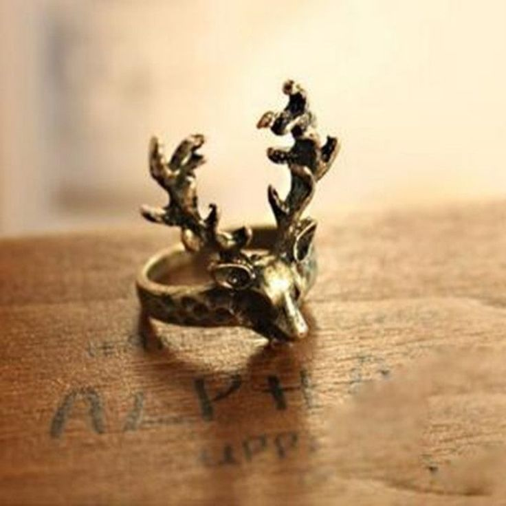 LZ Jewelry Hut R147 The 2016 New Wholesale Fashion Vintage Alloy Deer Cheap Rings For Women