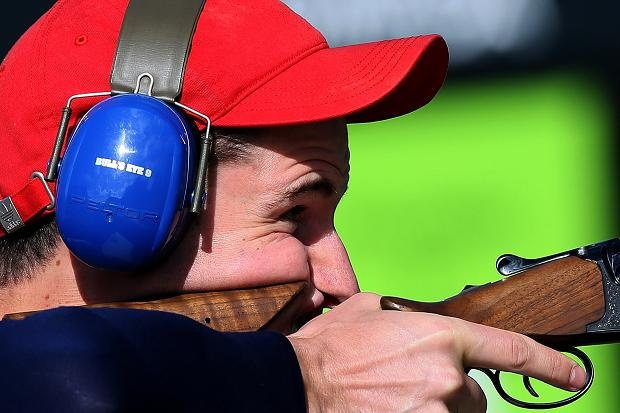 Aug 2 Peter Wilson won Team GB's fourth gold in the double trap clay shooting