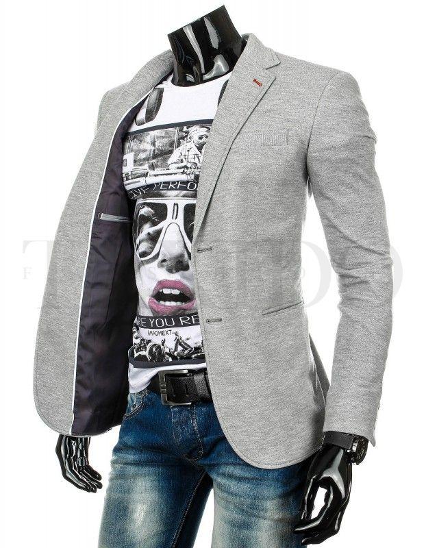 Pánské stylové sako - Piacenza, šedé