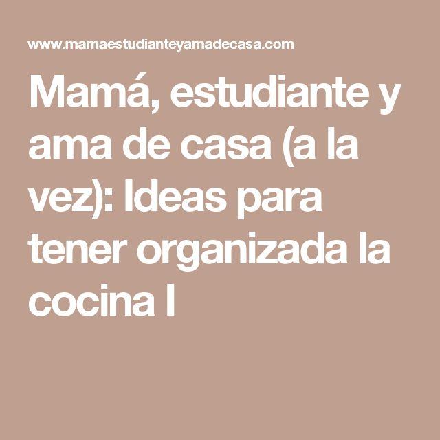 M s de 25 ideas incre bles sobre mam organizada en - Agencias para tener estudiantes en casa ...