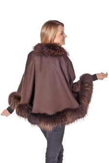 Brown Cashmere Capes,Fur Trimmed Cashmere Capes are all sold at MadisonAveMall! $495