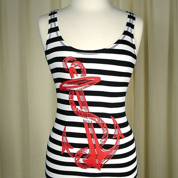 Cartel Ink Striped Anchor Tank Top