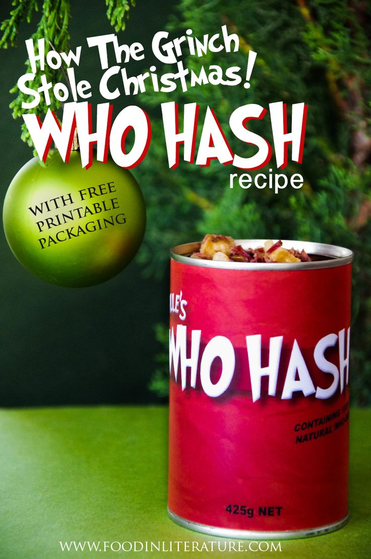 Theme up your dinner in December for your family, and make this quick and easy Who Hash recipe (you can even use leftovers!). With free printable packaging, your family will feel like they're in Whoville leading up to Christmas.