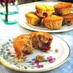 Warme+frambozen+muffins