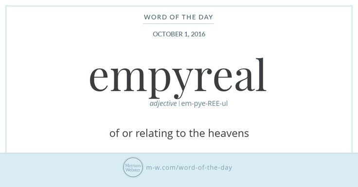 Empyreal can be traced back to the Greek word for 'fiery,' empyros, which was formed from the prefix em- ('in,' 'within,' or 'inside') and -pyros, from pyr, the Greek word for 'fire.' When empyreal