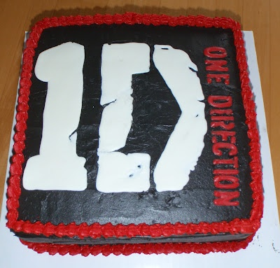 One Direction Cake - sometimes you gotta make a cake for something you hate ;)
