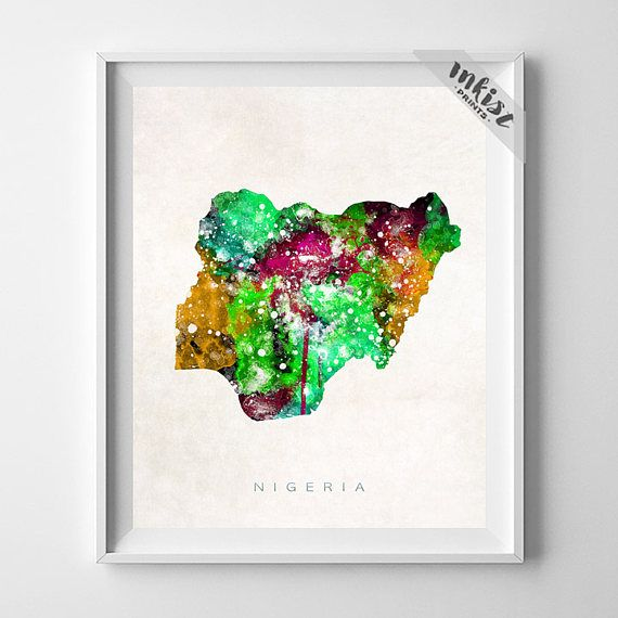 Nigeria Map Print, Abuja Print, Nigeria Poster, Map Art, Travel Poster, Watercolor Painting, State Map, Christmas Gift, Wall Art. PRICES FROM $9.95. CLICK PHOTO FOR DETAILS.#inkistprints #map #watercolor #watercolour #giftforher #homedecor #nursery #wallart #walldecor #poster #print #christmas #christmasgift #weddinggift #nurserydecor #mothersdaygift #fathersdaygift #babygift #valentinesdaygift #dorm #decor #livingroom #bedroom