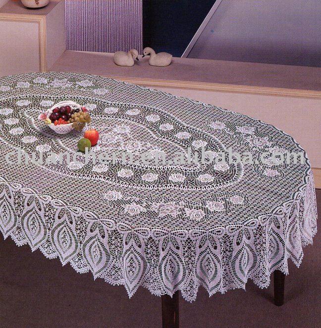 Patrones de manteles ovalados a crochet imagui - Mantel de crochet ...
