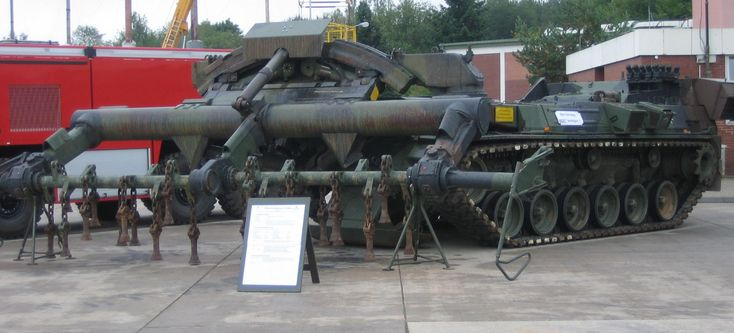 German Army Keiler, flail tank; based on the M48 Patton