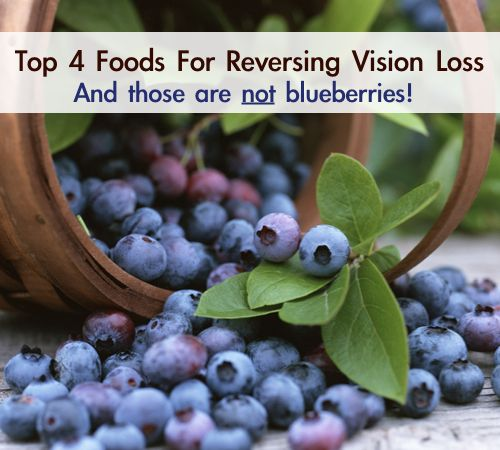 Top 4 Foods For Reversing Vision Loss | http://improvedaging.com/top-4-foods-for-reversing-vision-loss/