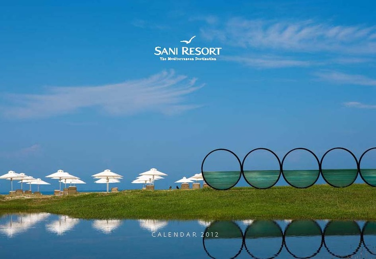 Sani Resort Calendar 2012. Location: Halkidiki, Greece.  To read this brochure please click here http://issuu.com/sani_resort/docs/sani_resort_calendar_2012