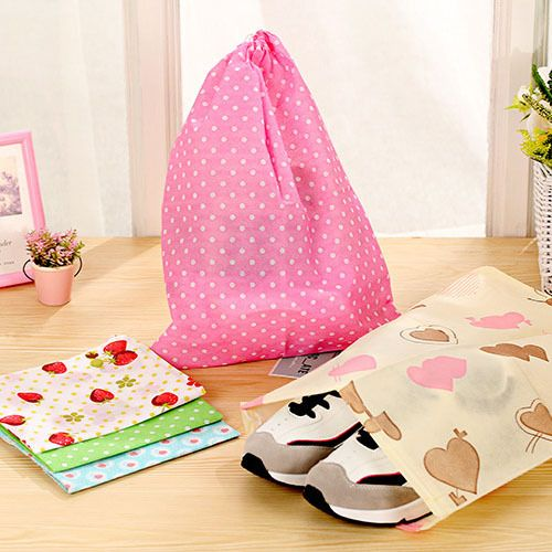 Chic Non-woven Shoes Storage Bag Travel Wash Pouch Handbag 5 Colors Waterproof Wholesale Christmas Gift For Friends 2017 New