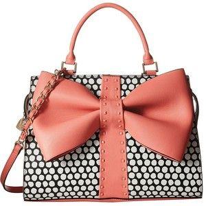 Betsey Johnson Curtsy Satchel (Coral) Satchel Handbags