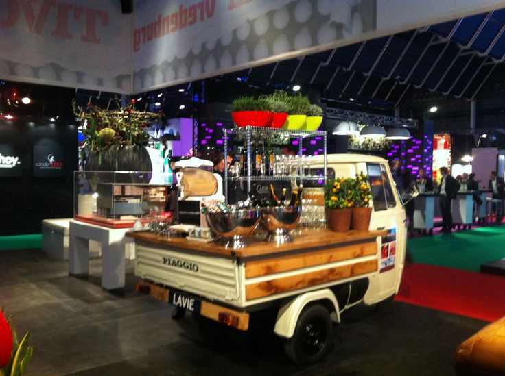 Old Piaggio Turned In To A Food Truck Or Shall We Say Drinks