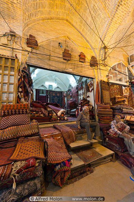 Carpet shop in Iran