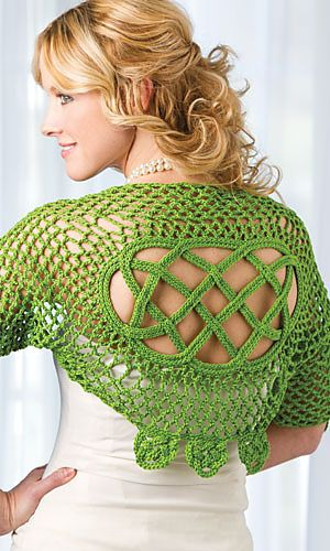 Ravelry: Kerry Shrug pattern by Jennifer Ryan. i may need to buy this issue, mum would likely love one of these.