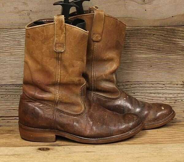 Red Wing Mens Vintage Brown Leather Pull On Work Boots Sz 10 5 B Fashion Clothing Shoes Accessories Mensshoes Boots Pull On Work Boots Boots Work Boots
