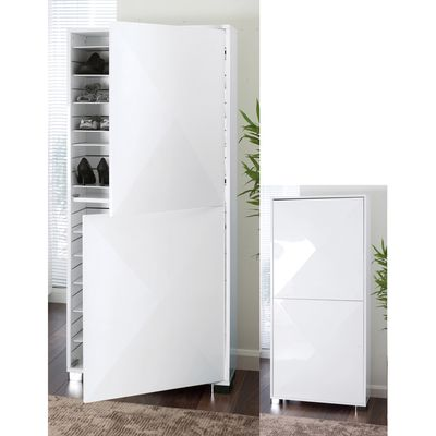 From Ugg boots to cowboy boots; flip-flops to slippers; espadrilles to brogues; winklepickers to wellies - the glamorously lustrous Space shoe cupboard has room for them all. With 24 independently adjustable shelves giving complete flexibility to accommodate different heights of shoes you will never be stuck for somewhere to stick your favourite footwear.