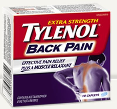 Tylenol Back Pain Medication Free Sample - Canada