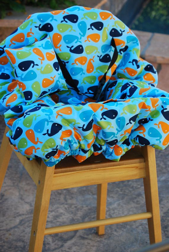 Shopping Cart Cover - Shopping Cart Cover for Boy Custom by Tinder Designs Boutique - Blue Whales on Etsy, $70.00