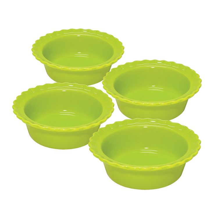 Chantal 5-inch Classic Individual Pie Dishes, Lime Green, Set of 4 >>> Details can be found by clicking on the image.