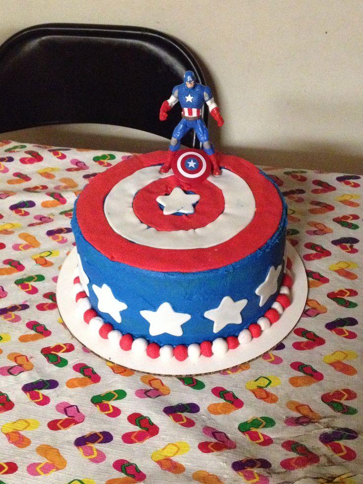 Caption America Cake - done by Kayla Hardy