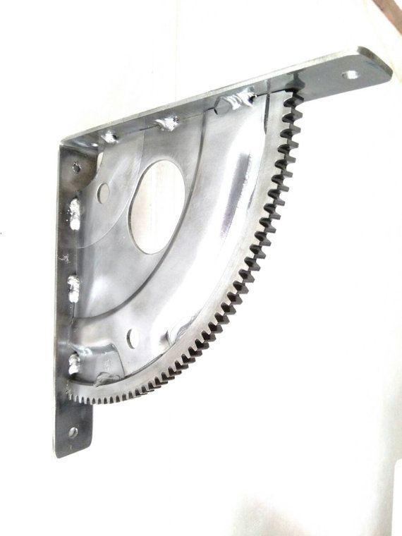 Gear Shelf Brackets / Automotive Steampunk Garage Engine Car Part Industrial Gift Gear Head Man Cave Mechanic Hot Rod Frost Auto
