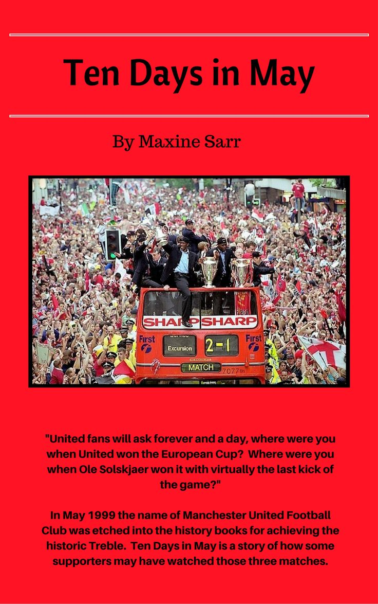 My book tells the story of those who died in the Munich Air Disaster in February 1958 and others as they watch the Manchester United games that saw them achieve the historical Treble in May 1999.  Out on Amazon July 2017