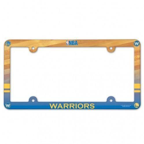 Golden State Warriors Plastic License Plate Frame Full Color Style