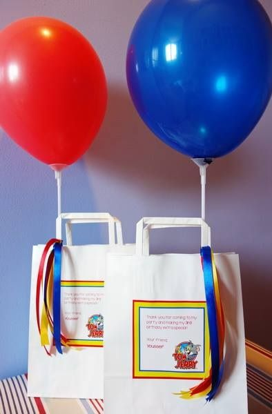 Tom & Jerry themed favour bag by Wunderkind Celebrations {www.wunderkind.ae}