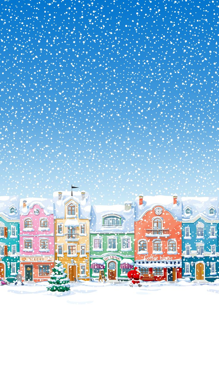 Winter Village ★ Find more Seasonal wallpapers Cell phone Wallpaper / Background re-sizeable for all cells phones. @prettywallpaper