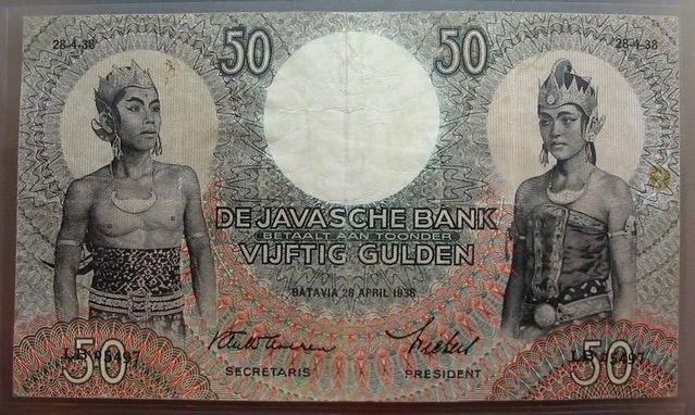 Vijftig gulden biljet 1938.