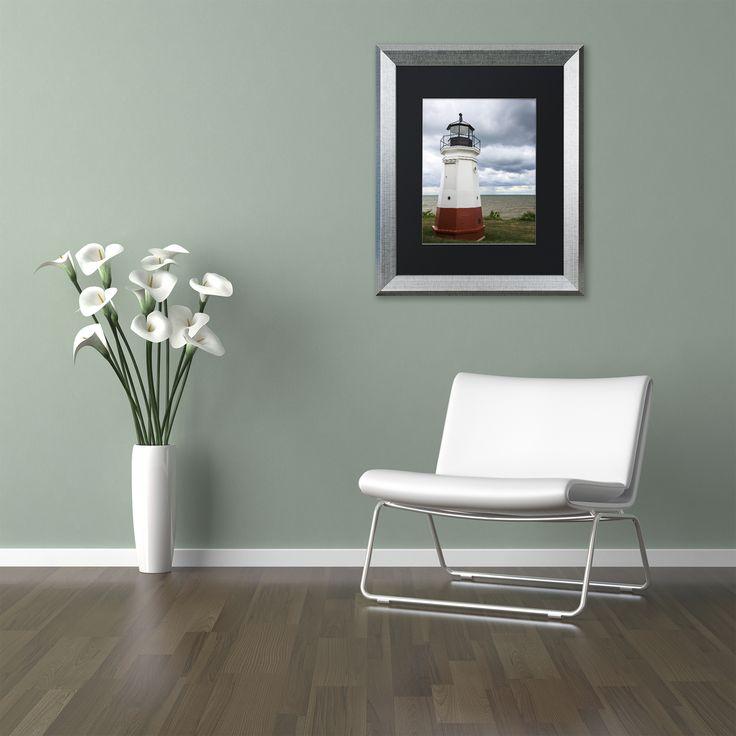 Kurt Shaffer 'Vermillion Ohio Lighthouse' Matted Framed Art