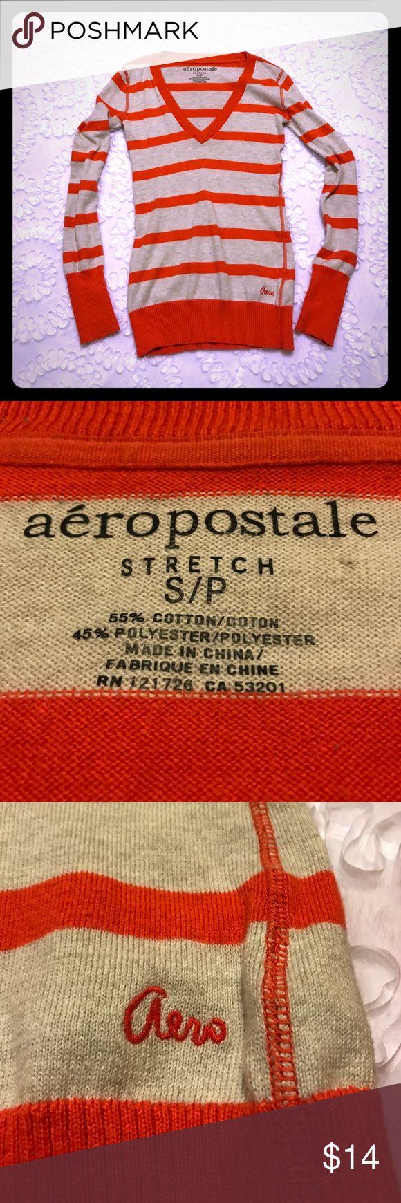 Aeropostale V-Neck Sweater Size Small V-Neck Aeropostale sweater!  Long torso, long sleeves!  Gently used! Aeropostale Tops Blouses