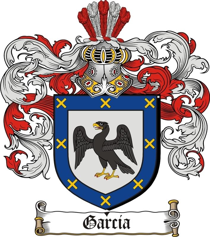 Garcia coat of arms / garcia family crest from the website www.4crests.com