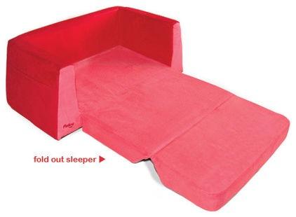Pkolino Little Sofa/Sleeper, Red Contemporary Kids Chairs