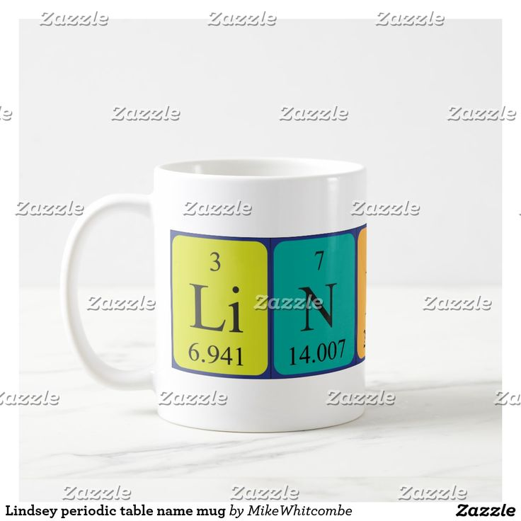 44 best periodic name images on pinterest periodic table lindsey periodic table name mug urtaz Gallery